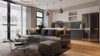 thiết kế nội thất chung cư Vinhomes Metropolis tòa M3 căn 09