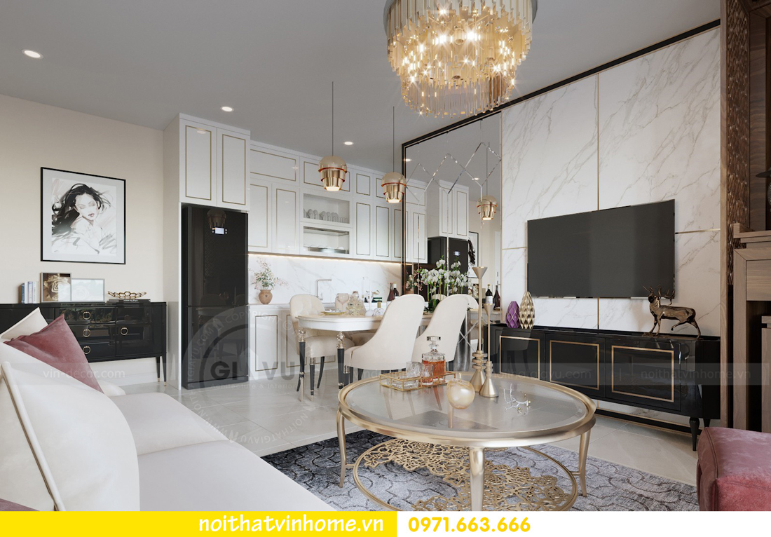 nội thất chung cư cao cấp tòa C3 căn hộ 05 D Capitale nhà chị Hà 04
