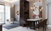 thiết kế hoàn thiện nội thất chung cư Vinhomes D Capitale tòa C1 căn 01