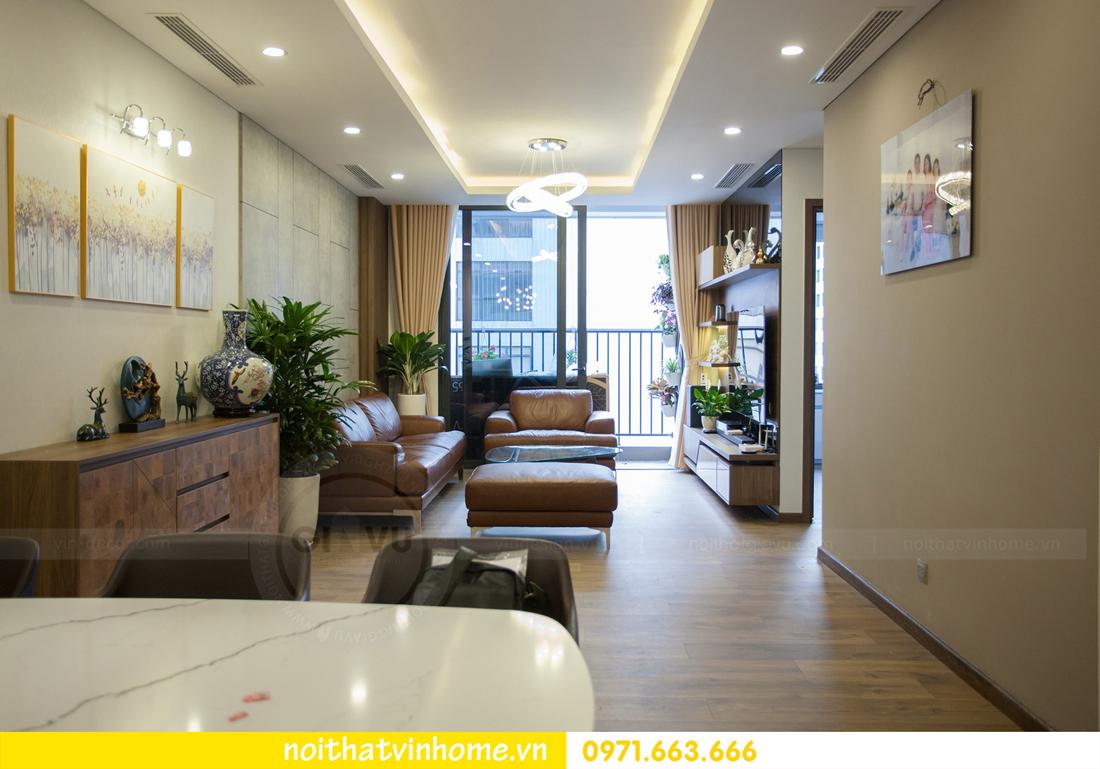 thi công hoàn thiện nội thất căn hộ thực tế nhà chị Hương 03