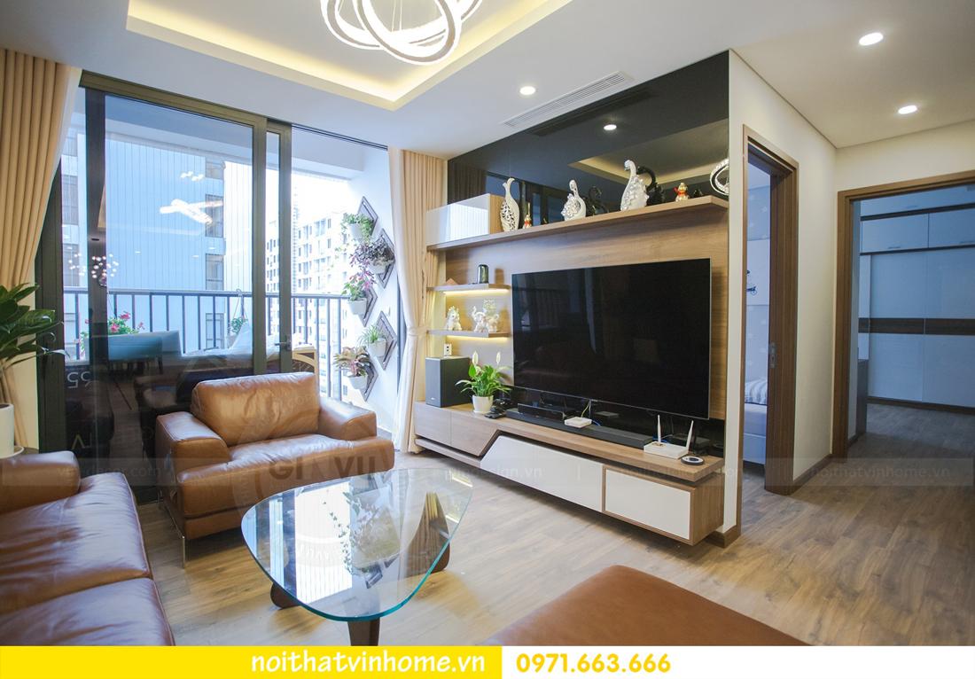 thi công hoàn thiện nội thất căn hộ thực tế nhà chị Hương 05