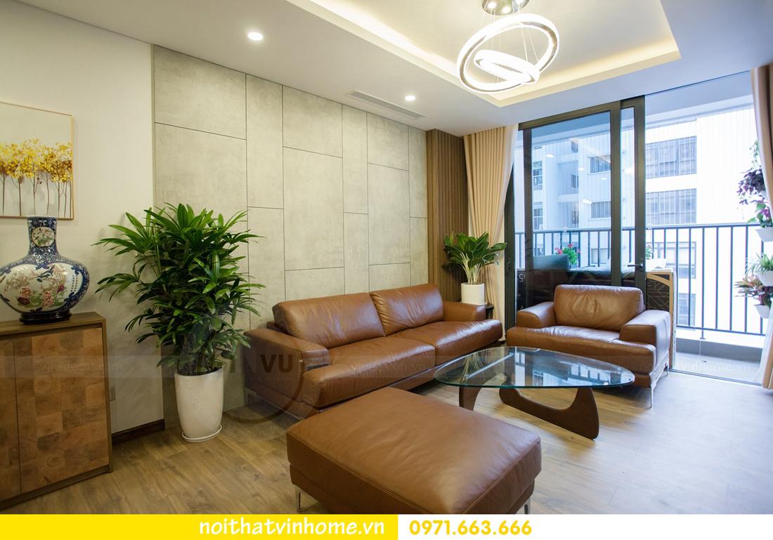 thi công hoàn thiện nội thất căn hộ thực tế nhà chị Hương 07