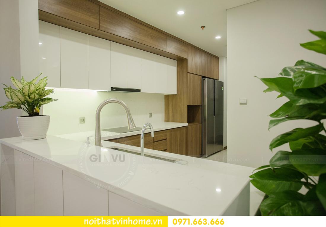 thi công hoàn thiện nội thất căn hộ thực tế nhà chị Hương 10