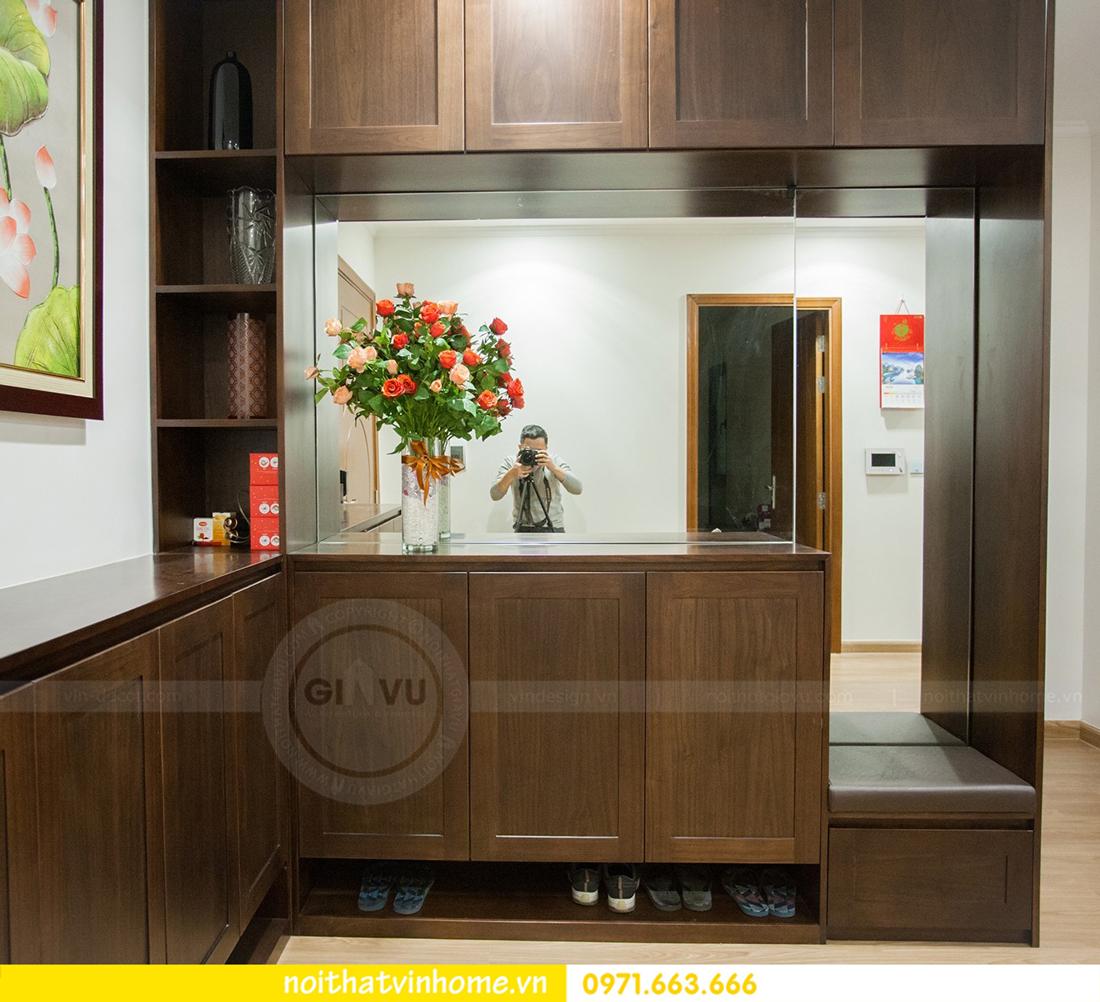 thi công nội thất gỗ óc chó thực tế tại Park Hill 11 căn 11 View2