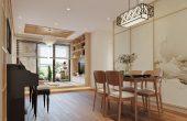 thiết kế nội thất Á Đông tại chung cư Vinhomes Skylake