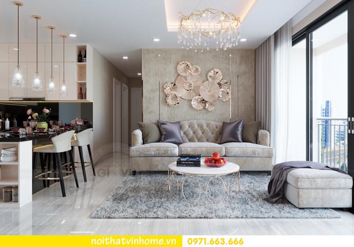 thiết kế nội thất căn hộ 100m2 tại tòa C6 03 Vinhomes D Capitale 03