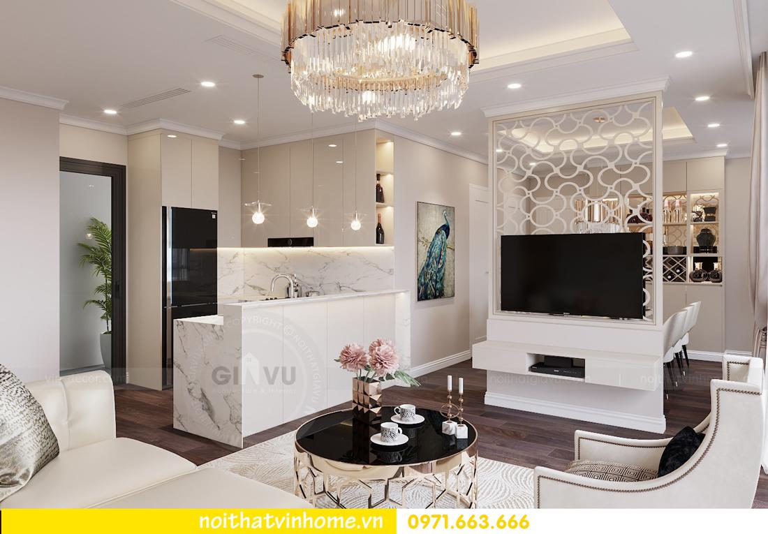 thiết kế nội thất chung cư 80m2 tại Vinhomes D Capitale 02