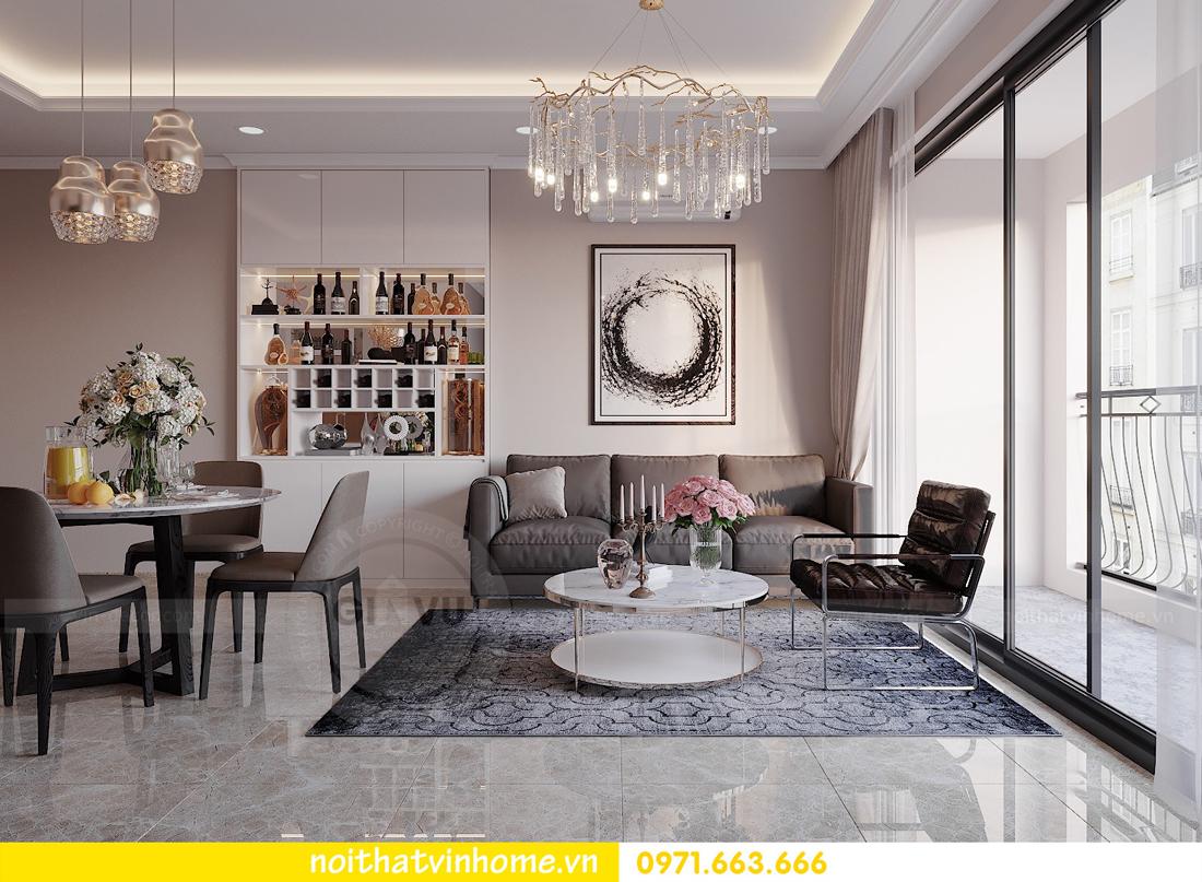 thiết kế nội thất chung cư đẹp tại tòa C1 căn 10 D Capitale anh Tuyên 04