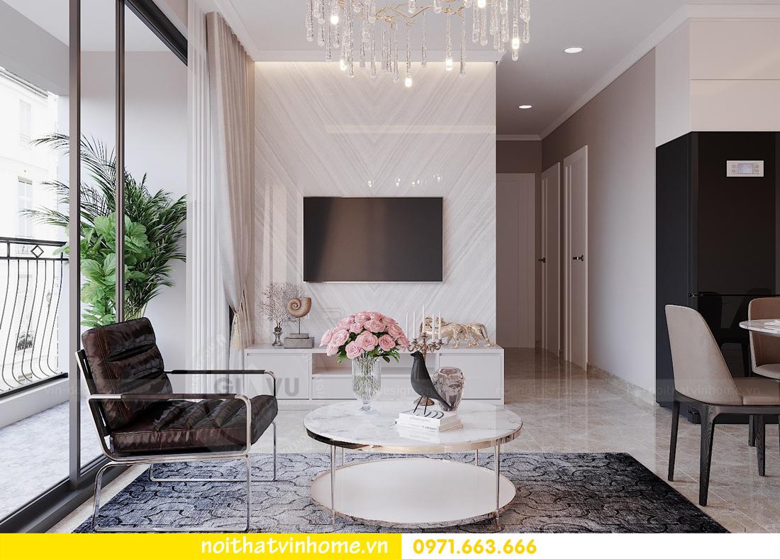 thiết kế nội thất chung cư đẹp tại tòa C1 căn 10 D Capitale anh Tuyên 06