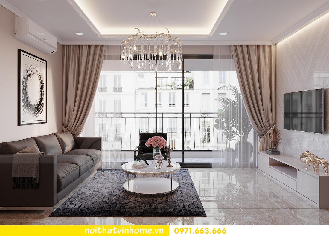 thiết kế nội thất chung cư đẹp tại tòa C1 căn 10 D Capitale anh Tuyên 07