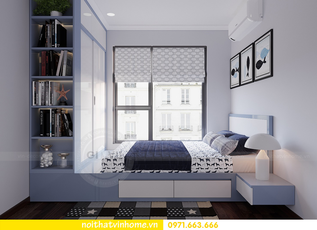 thiết kế nội thất chung cư đẹp tại tòa C1 căn 10 D Capitale anh Tuyên 11