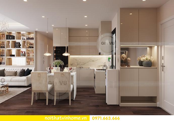 thiết kế nội thất chung cư hiện đại tòa C1 căn 10 Vinhomes D Capitale 01