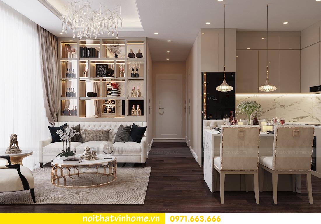 thiết kế nội thất chung cư hiện đại tòa C1 căn 10 Vinhomes D Capitale 02