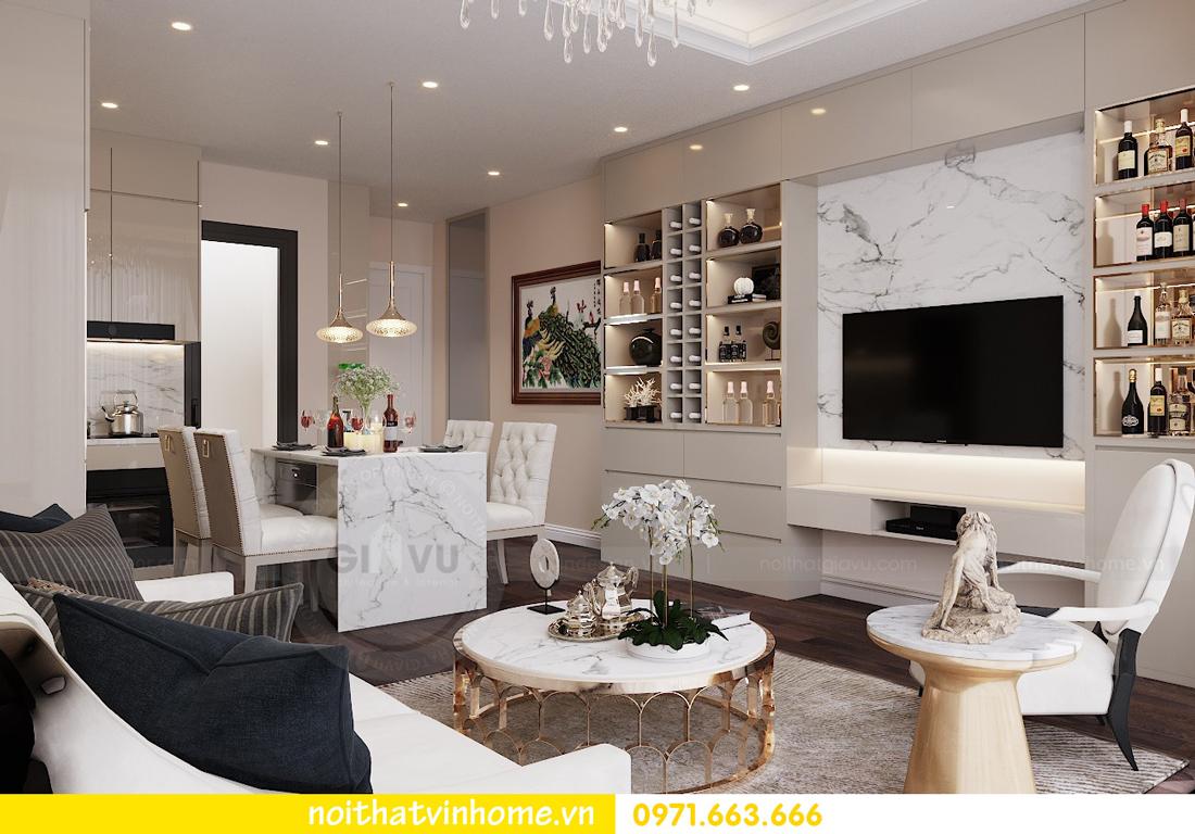 thiết kế nội thất chung cư hiện đại tòa C1 căn 10 Vinhomes D Capitale 03