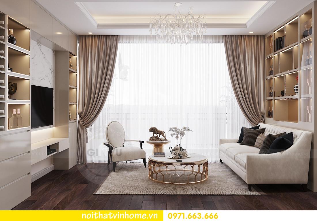 thiết kế nội thất chung cư hiện đại tòa C1 căn 10 Vinhomes D Capitale 04