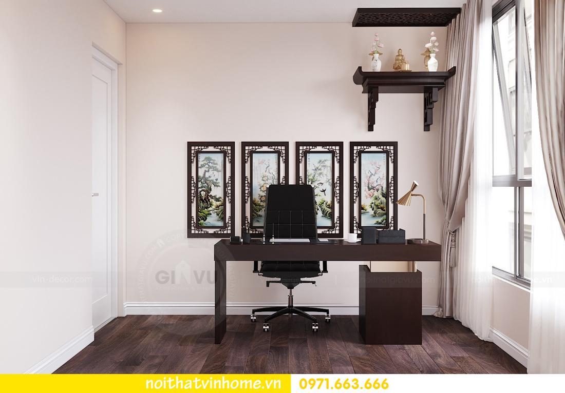 thiết kế nội thất chung cư hiện đại tòa C1 căn 10 Vinhomes D Capitale 12