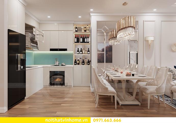 thiết kế nội thất chung cư Metropolis tòa M1 căn 05 chị Lan 03