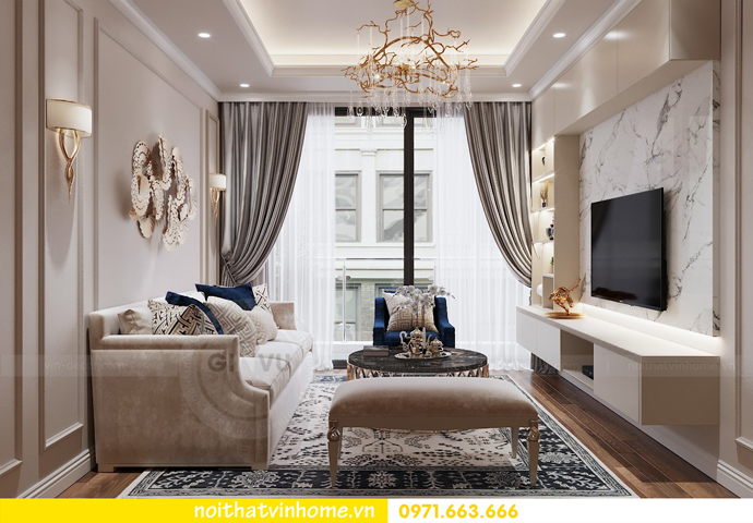 thiết kế nội thất chung cư Metropolis tòa M1 căn 05 chị Lan 05