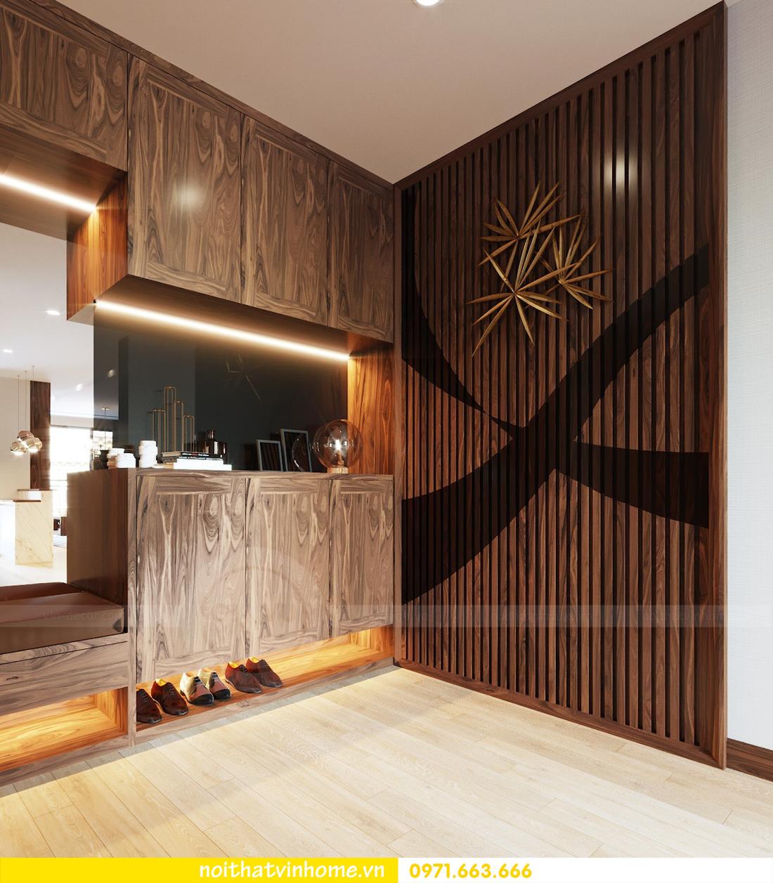 thiết kế thi công nội thất gỗ óc chó tòa M2 căn 11 chung cư Metropolis chú Bình 01