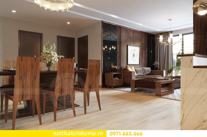 thiết kế thi công nội thất gỗ óc chó tòa M2 căn 11 chung cư Metropolis chú Bình 03
