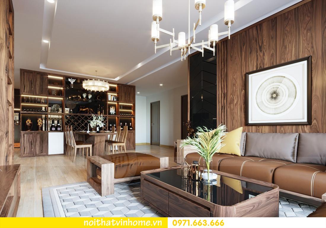 thiết kế thi công nội thất gỗ óc chó tòa M2 căn 11 chung cư Metropolis chú Bình 06