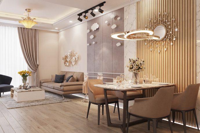 thiết kế hoàn thiện nội thất chung cư Park Hill 10 căn 02 nhà anh Tâm