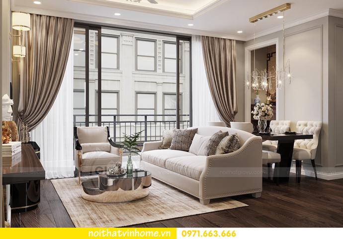 thiết kế nội thất căn hộ 80m2 tại Vinhomes D Capitale nhà chị Nguyệt 04
