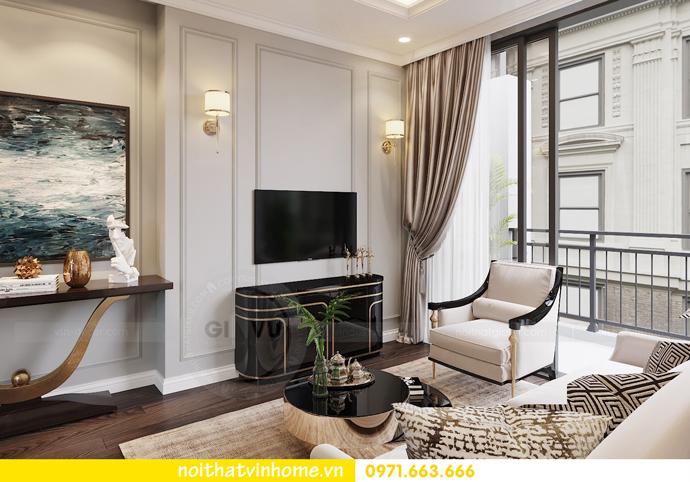 thiết kế nội thất căn hộ 80m2 tại Vinhomes D Capitale nhà chị Nguyệt 05