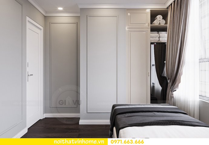 thiết kế nội thất căn hộ 80m2 tại Vinhomes D Capitale nhà chị Nguyệt 11