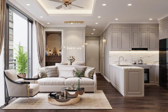 thiết kế nội thất căn hộ 80m2 tại Vinhomes DCapitale