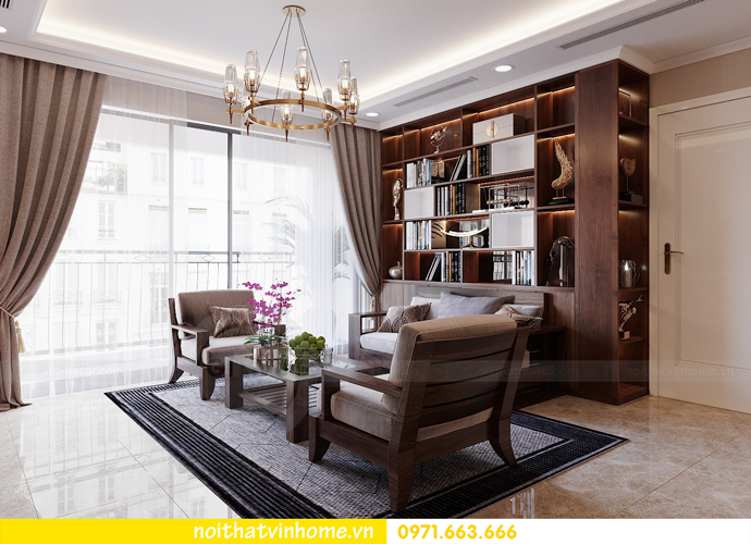 thiết kế nội thất căn hộ chung cư cao cấp tòa C304 Vinhomes DCapitale 3
