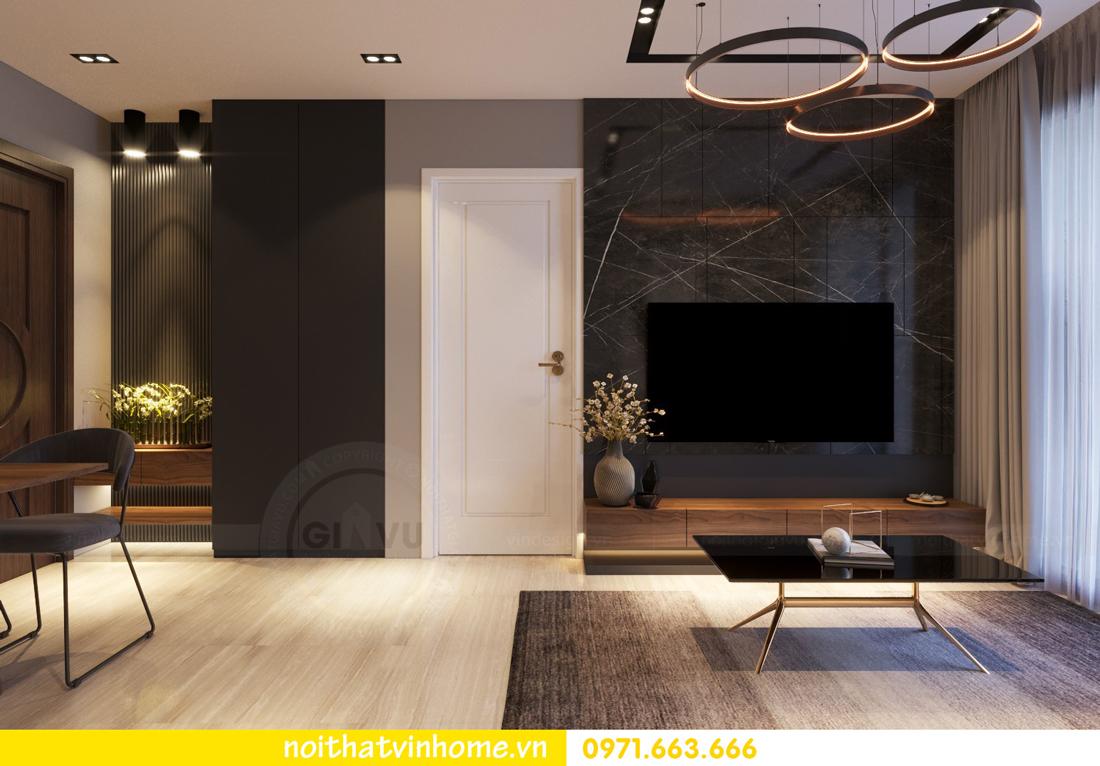 thiết kế nội thất chung cư 2 phòng ngủ tòa C3 căn 07 nhà chị Thắm 01