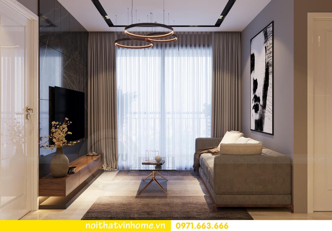 thiết kế nội thất chung cư 2 phòng ngủ tòa C3 căn 07 nhà chị Thắm 02