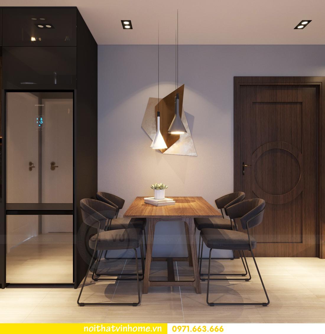 thiết kế nội thất chung cư 2 phòng ngủ tòa C3 căn 07 nhà chị Thắm 03