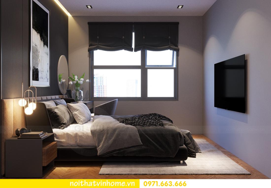 thiết kế nội thất chung cư 2 phòng ngủ tòa C3 căn 07 nhà chị Thắm 07