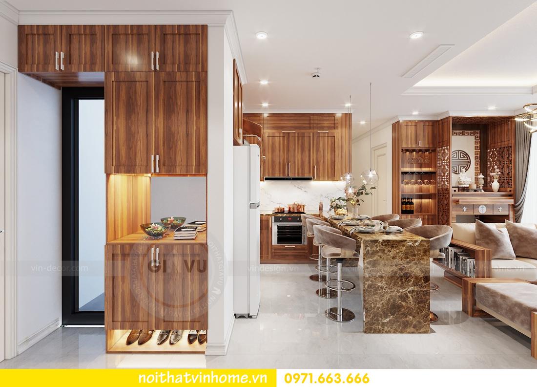 thiết kế nội thất chung cư DCapitale tòa C7 căn 09 Mrs Dương gỗ tự nhiên 01