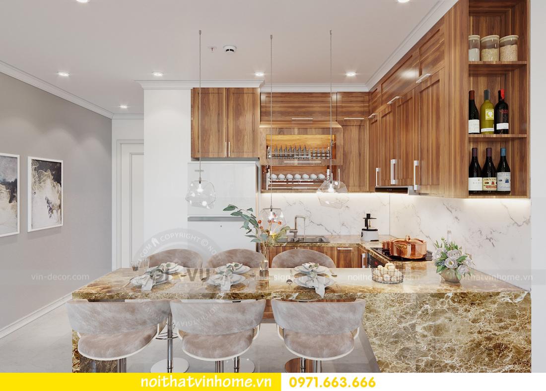 thiết kế nội thất chung cư DCapitale tòa C7 căn 09 Mrs Dương gỗ tự nhiên 02