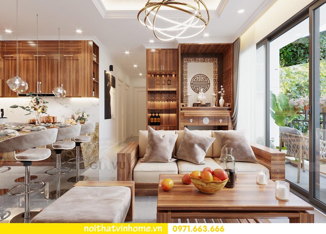 thiết kế nội thất chung cư DCapitale tòa C7 căn 09 Mrs Dương gỗ tự nhiên 04