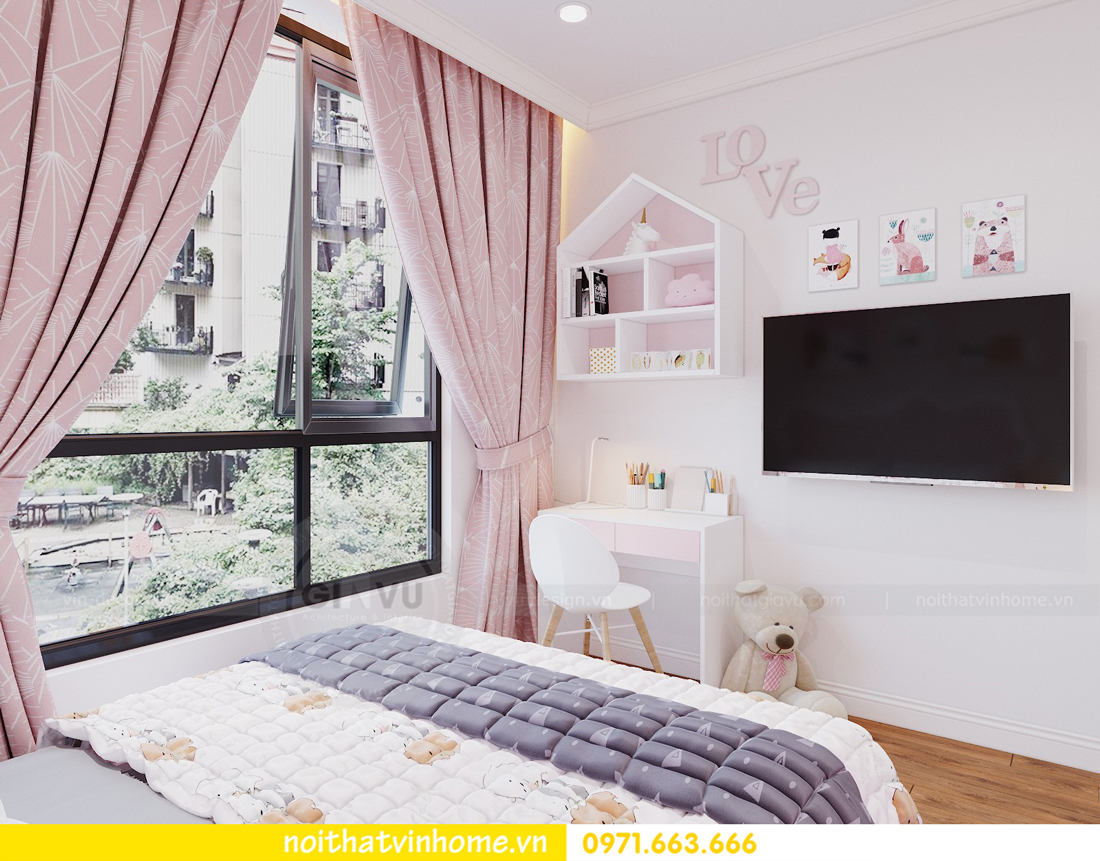 thiết kế nội thất chung cư DCapitale tòa C7 căn 09 Mrs Dương gỗ tự nhiên 14