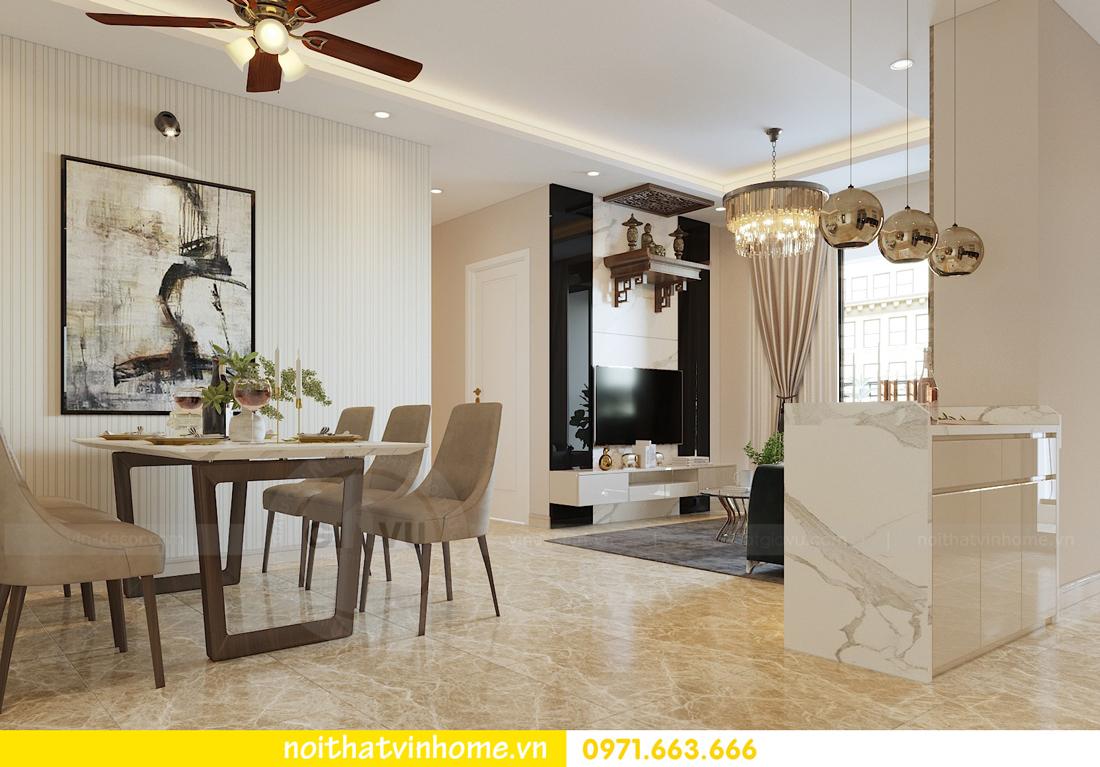 thiết kế nội thất chung cư hiện đại DCapitale căn C108 View 2