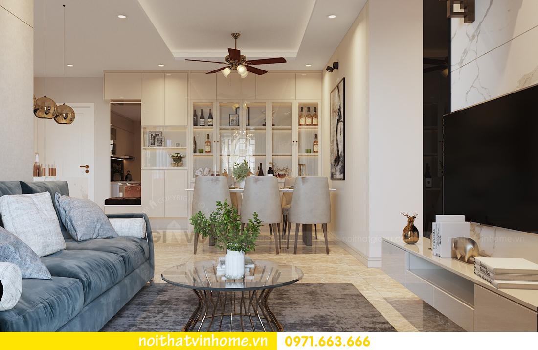 thiết kế nội thất chung cư hiện đại DCapitale căn C108 View 3