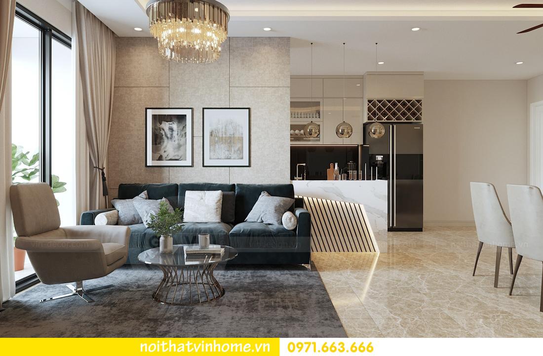 thiết kế nội thất chung cư hiện đại DCapitale căn C108 View 4