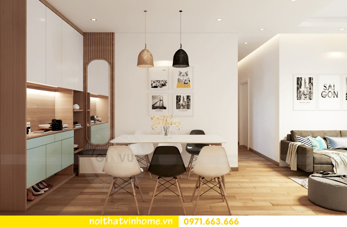 thiết kế nội thất chung cư Skylake căn 11A tòa S3 anh Trường 01