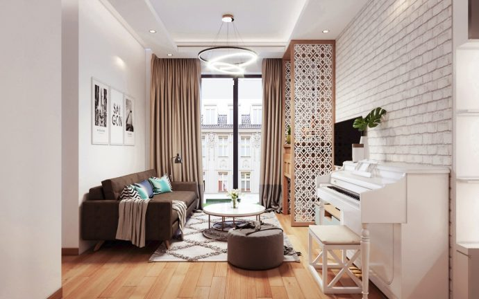 thiết kế nội thất chung cư Skylake tòa S3 căn 11A nhà anh Trường