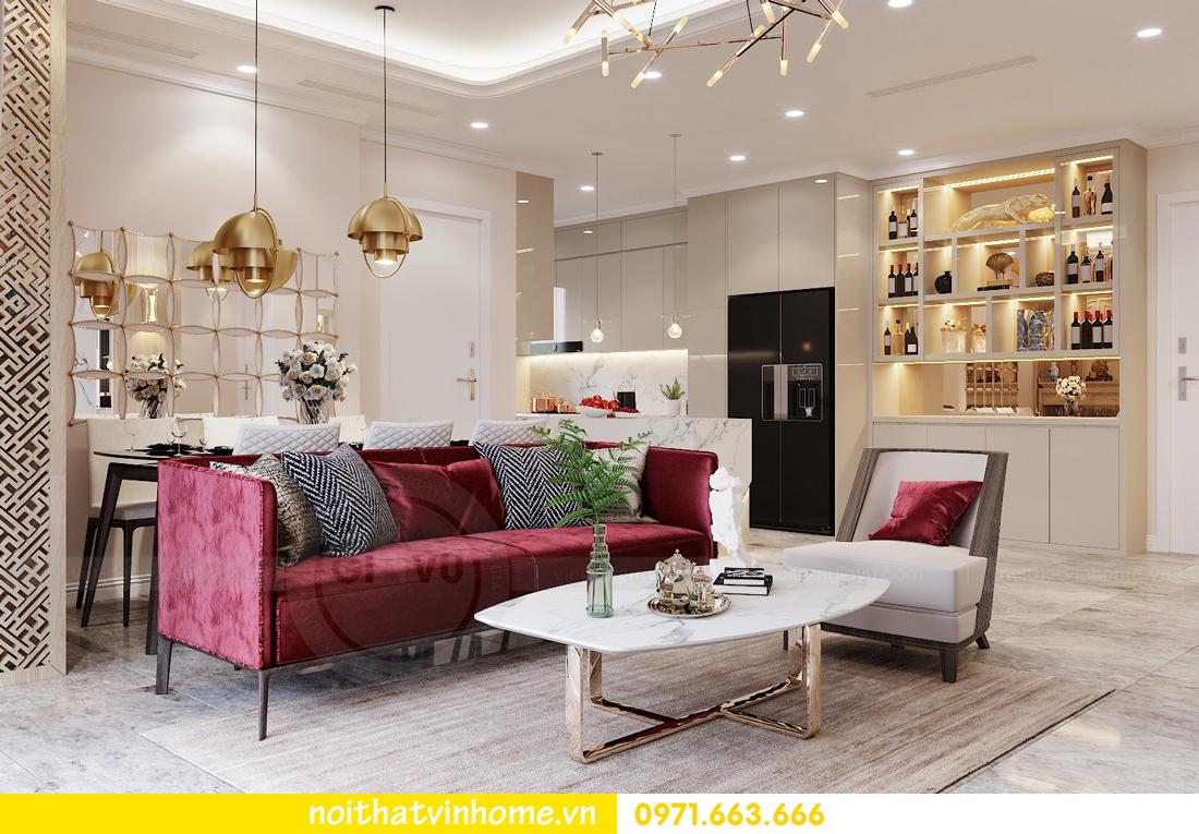 thiết kế nội thất chung cư Vinhomes D Capitale tòa C3 căn 04 cô Trâm 1