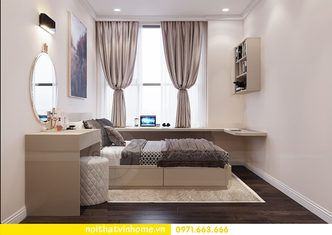 thiết kế nội thất chung cư Vinhomes D Capitale tòa C3 căn 04 cô Trâm 12