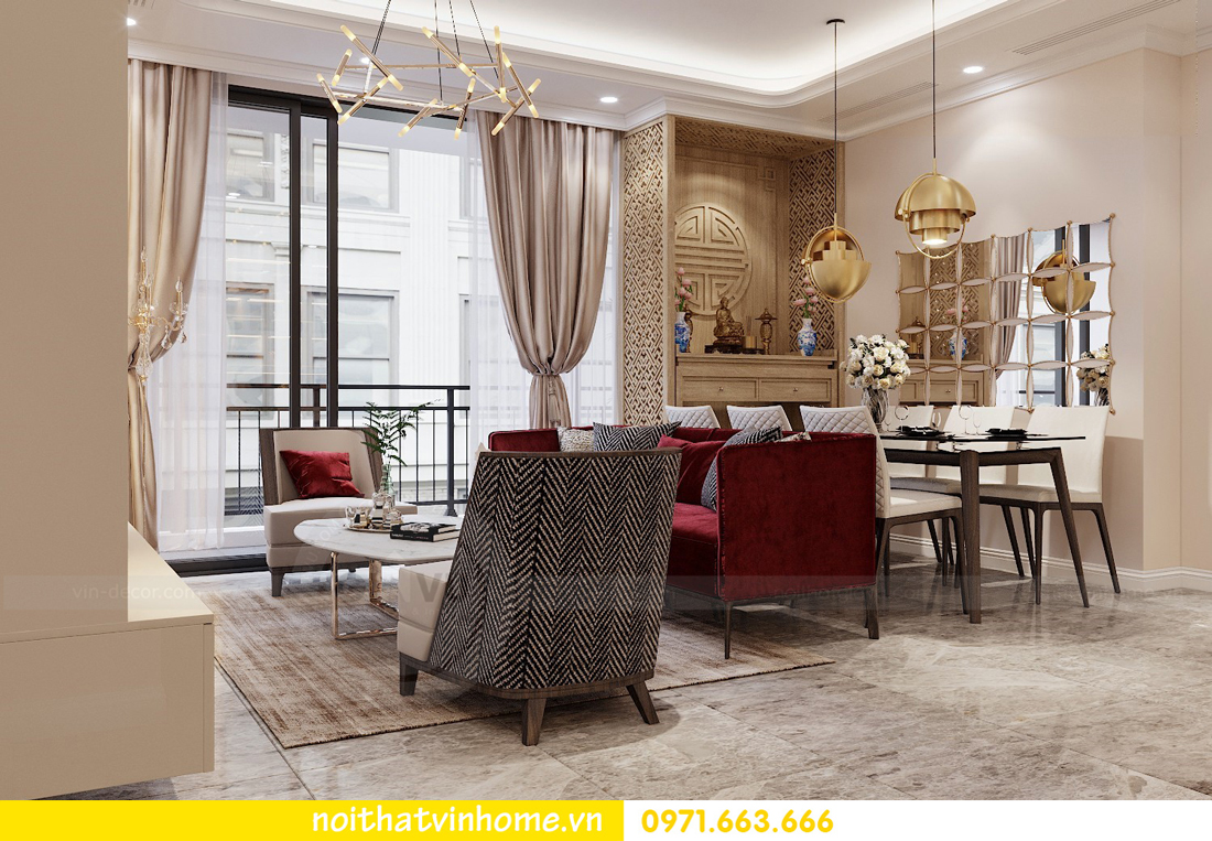 thiết kế nội thất chung cư Vinhomes D Capitale tòa C3 căn 04 cô Trâm 3