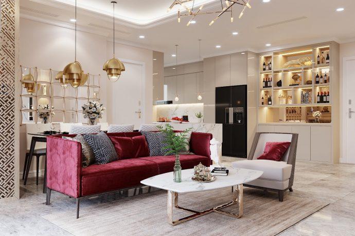 thiết kế nội thất chung cư Vinhomes D Capitale tòa C3 căn nhà cô Trâm