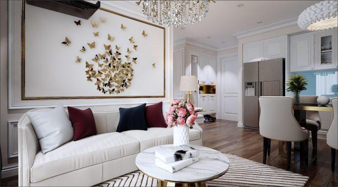 thiết kế nội thất chung cư Vinhomes DCapitale tòa C1 căn 02 nhà chị Hiên