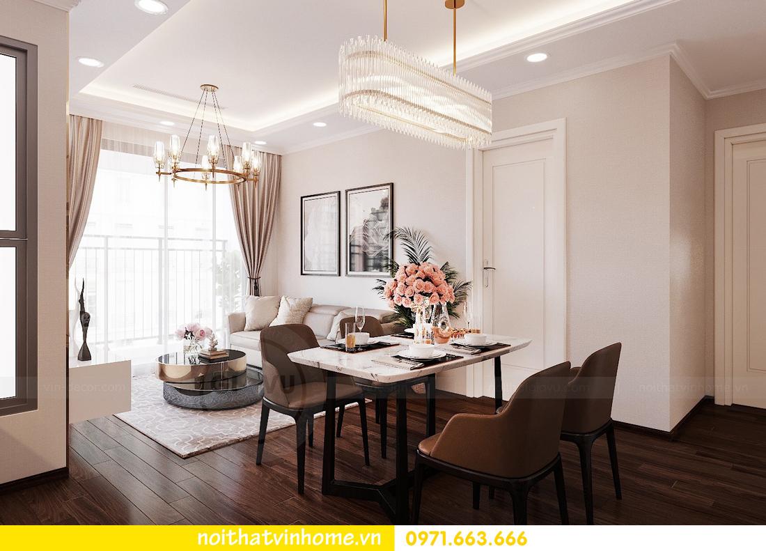 thiết kế nội thất chung cư Vinhomes Green Bay căn G210 nhà chị Phương 02